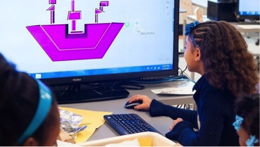 Students design prototype with computers