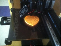 3-D printer producing a student creation